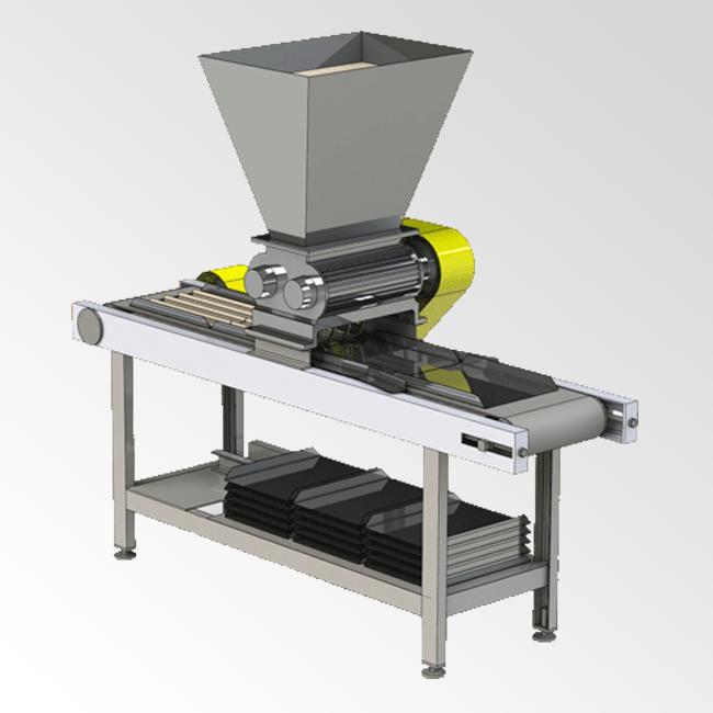 Машина формования сухарных плит